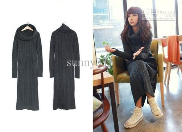 Women Sweater Maxi Long Knit Dress Dresses Outerwear Sweaters | Buy Wholesale On Line Direct from China