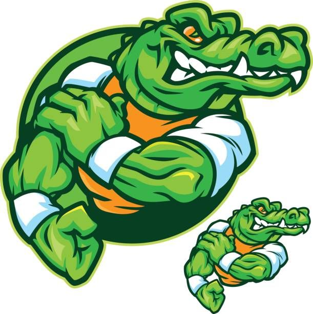 This Is A Great Gator Mascot Based Sport Kit With Multiple Images To Binatang Kartun Desain Logo