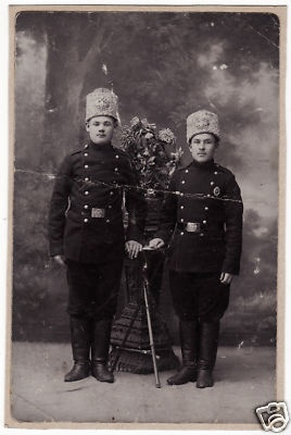 Imperial Russia - 1910s - Soldiers wearing Papakha with Eagles , Badge of 21 Infantry Simbirsky Regiment .