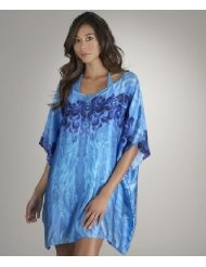 Luxe by Lisa Vogel - Cougarette Caftan Cover Up, Blue