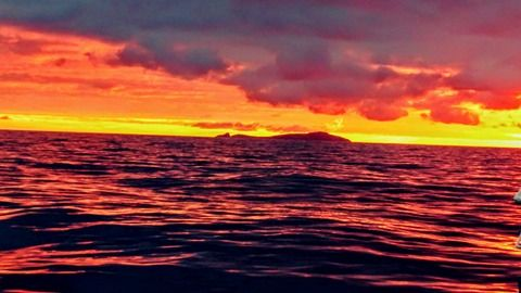 Fair Isle at the distance in a winter day from the boat © S.M