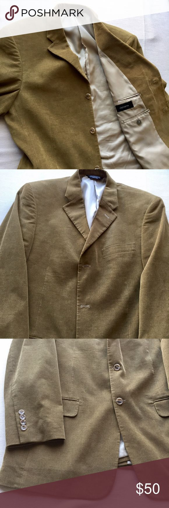 Claiborne corduroy blazer- 40 regular Men's Claiborne corduroy blazer in great condition. Great color as well. Size 40 regular. Please feel free to ask questions. Claiborne Suits & Blazers Sport Coats & Blazers