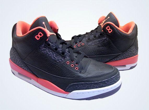6d0993160f3ae Bright Crimson Jordan III Basketball Sneakers 2018 Black Bright Crimson  136064 005