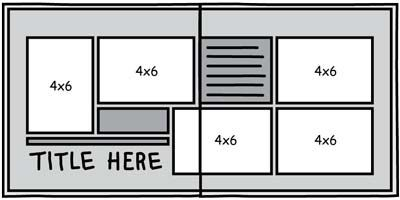 6x4 postcard template - layout that uses 6x4 4x6 photos simple quick and easy