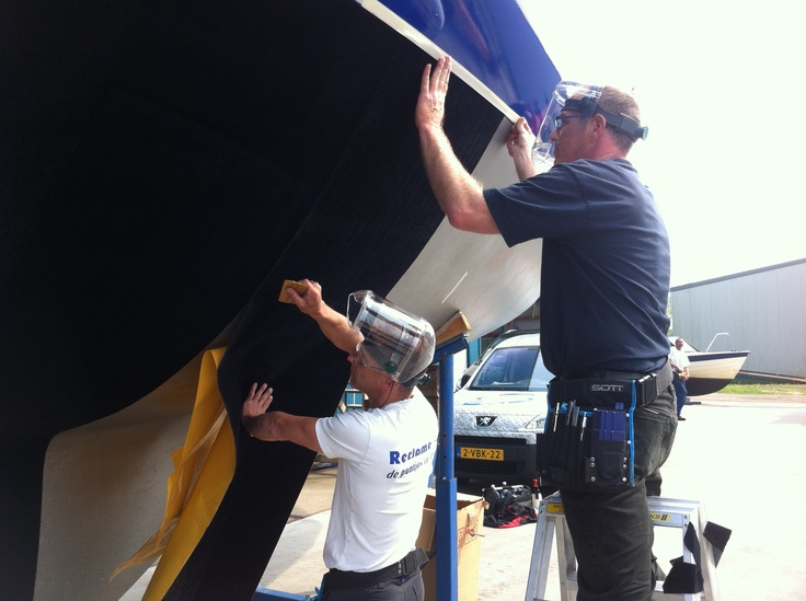 putting on the antifouling foil. this will protect your boat under water for atleast 5 years against  shells and other stuf. Less spending monney on getting the boat out of the water and cleaning.
