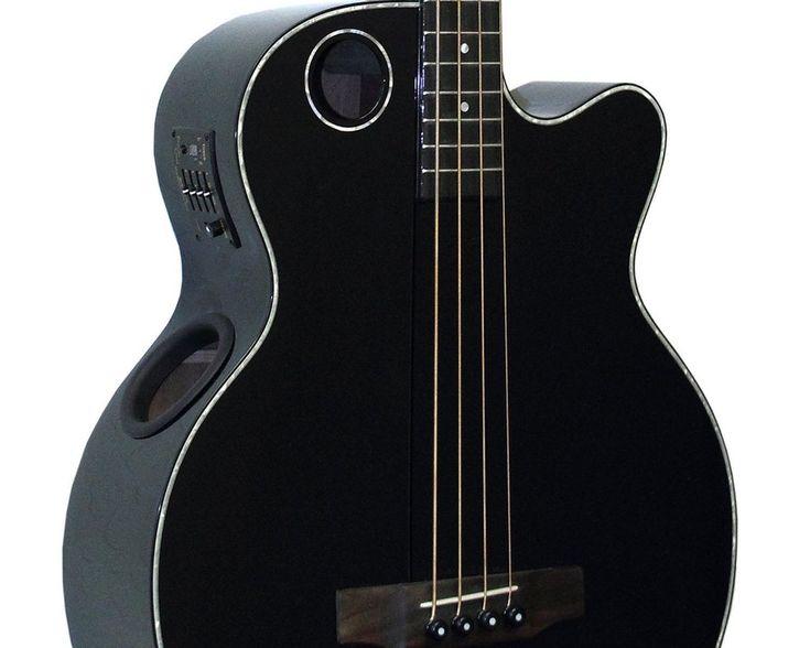 Boulder Creek Black Spruce Top Acoustic/ Elect 4-Str Bass EBR1-B4 Auth dealer