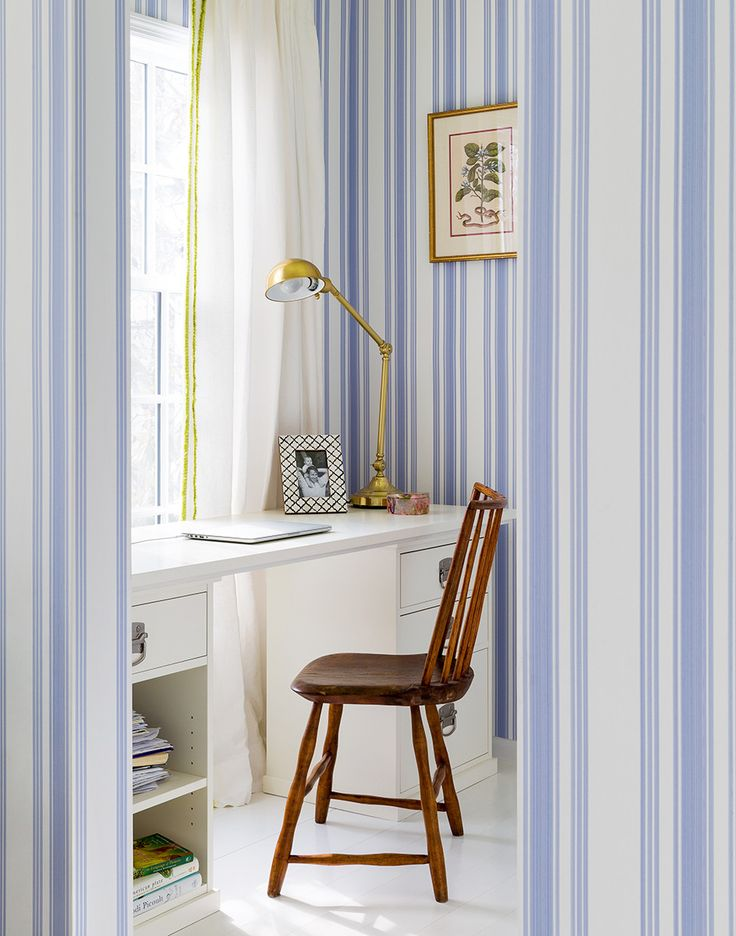 family home office. a patternperfect family home by celerie kemble office