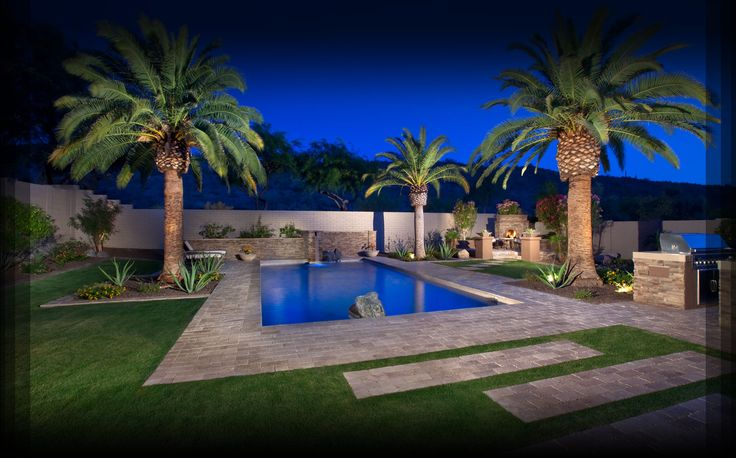 Blooming Desert Pools Landscaping Pool Landscape Design Backyard Pool Landscaping Arizona Backyard