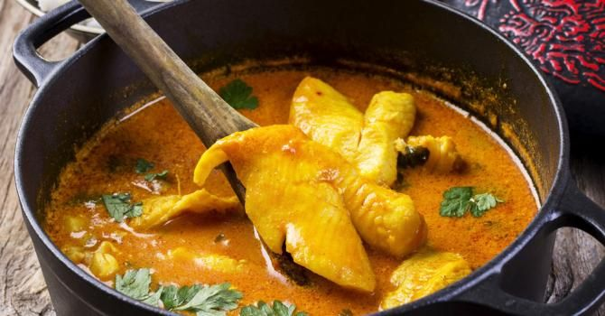 Recette de Colombo de poisson antillais léger . Facile et rapide à réaliser, goûteuse et diététique. Ingrédients, préparation et recettes associées.