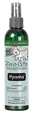 New 8 oz Pyranha Zero-Bite Natural Flea & Tick Spray Dogs Cats Puppies Kittens