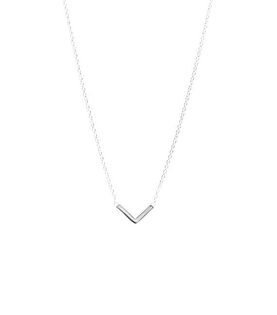 Silver chevron necklace by Maksym on Etsy