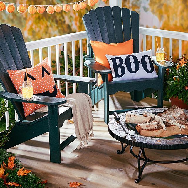 create creepy curb appeal with this selection of outdoor updates festive lights welcome trick or treaters in style while lanterns add ambiance to your - Outdoor Halloween Decorations On Sale