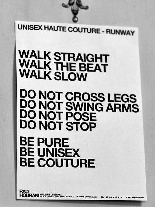 (backstage note models at the Rad Hourani show via Getty)- catwalk - runway - model - fashion
