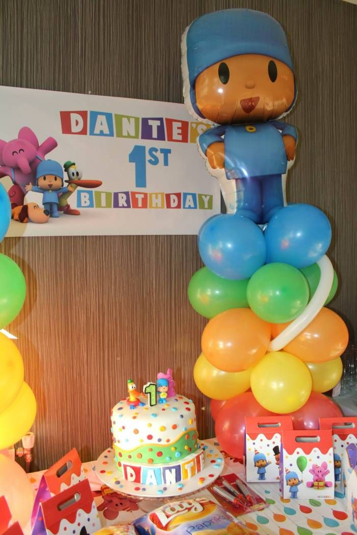 Find all the party supplies, decoration, favors and ideas of Pocoyo at partyweb.us