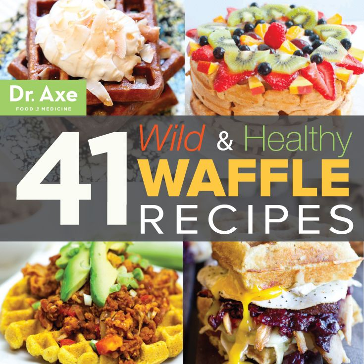 41 Wild & Healthy Waffle Recipes (no. 7 is crazy!)  http://www.draxe.com #recipe #healthy #breakfast