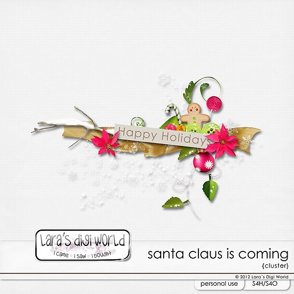 Santa Claus is coming cluster sample by Lara´s Digi World