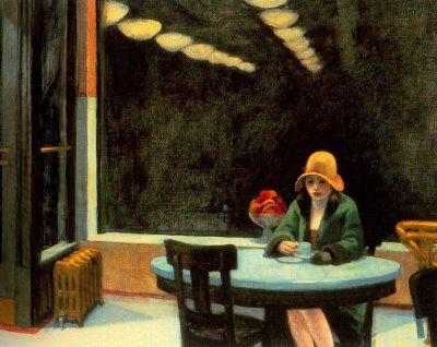 "Edward Hopper, La soledad.  ""American Scene""."