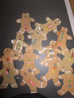 Mrs. Miner's Kindergarten Monkey Business: Gingerbread Men in December {MATH PUZZLE FREEBIE, too}