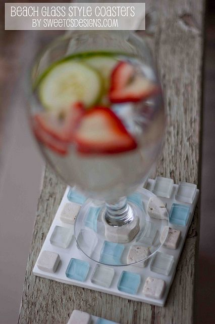 beach style summer coasters- love