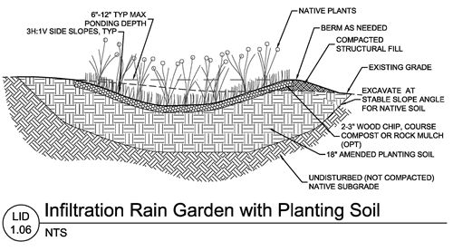 final step  u2013 lid 1 06 infiltration rain garden with