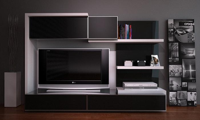 Línea Kontrast - mueble tv alto  www.rodenmobel.com