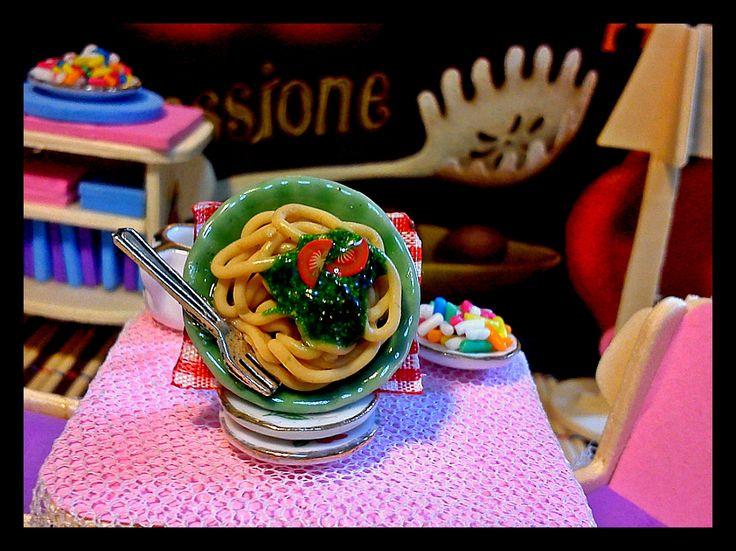 pesto spaghetti....