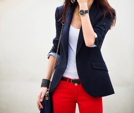 good: Fashion, Style, Red Jeans, Clothes, Blazers, Casual Outfits, Red Pants