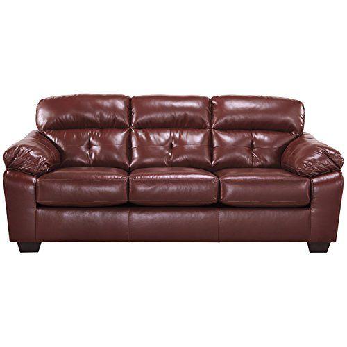 Flash Furniture Benchcraft Bastrop Sofa In Crimson Durablend