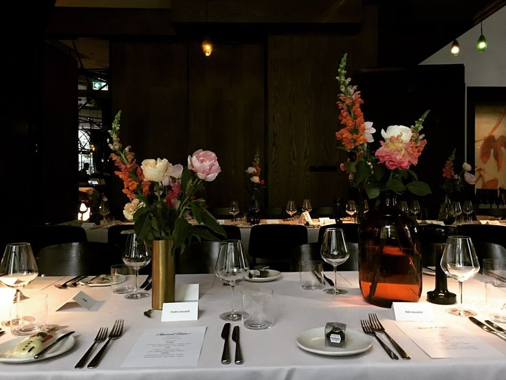 corporate dinner event flowers by   T H E  V I S U A L S