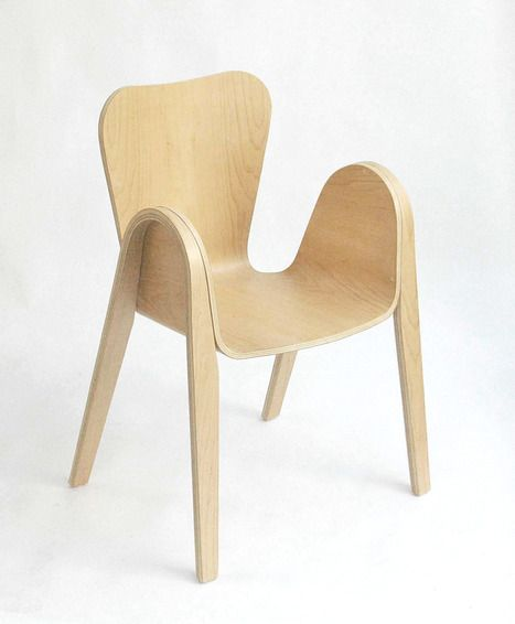 Pic Arm chair with round edges