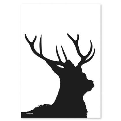Grafiskt tryck, deer, olika storlekar