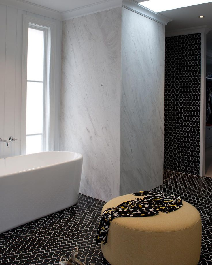"110 Likes, 6 Comments - CDK Stone (@cdkstone) on Instagram: ""Love this stunning Elba White feature wall in this gorgeous bathroom 👌🏻. #cdkstone #elba #elbawhite…"""
