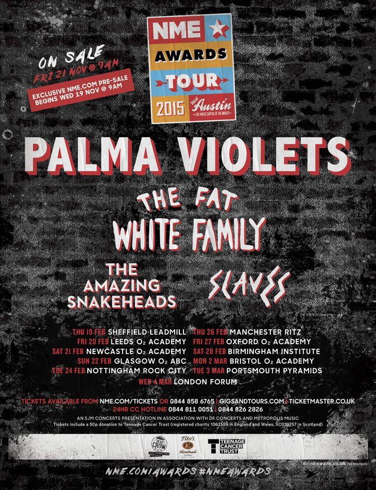 LIVE REVIEW: NME Awards Tour - O2 Academy Newscastle - 21/02/15 (Palma Violets, Fat White Family, Slaves, The Wytches) | MANCHESTER INDIE MUSIC BLOG