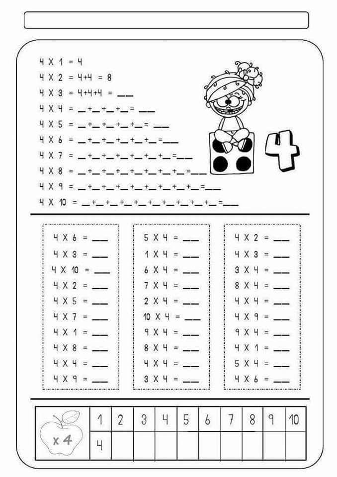 Atividades Escolares Tabuada De Multiplicar Tablas De