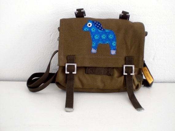 upcycled german army bags for kids! little vintage horse
