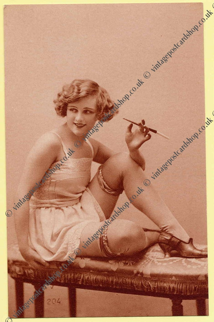 vintage postcard shop ephemera collectables battlesbridge essex - 1930s Lingerie postcards