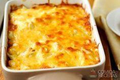 Receita de Lasanha de abobrinha com frango em receitas de legumes e verduras, veja essa e outras receitas aqui!