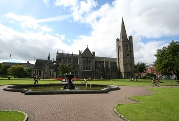 St. Patrick's Cathedral is the largest church in Ireland. Unusually, Dublin has two cathedrals belonging to the Church of Ireland, which act effectively as co-cathedrals. The Archbishop of Dublin has his official seat in the other one, Christ Church Cathedral Dublin.