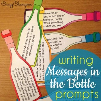 195 Writing Prompts - Messages in the Bottle (Entire Year)
