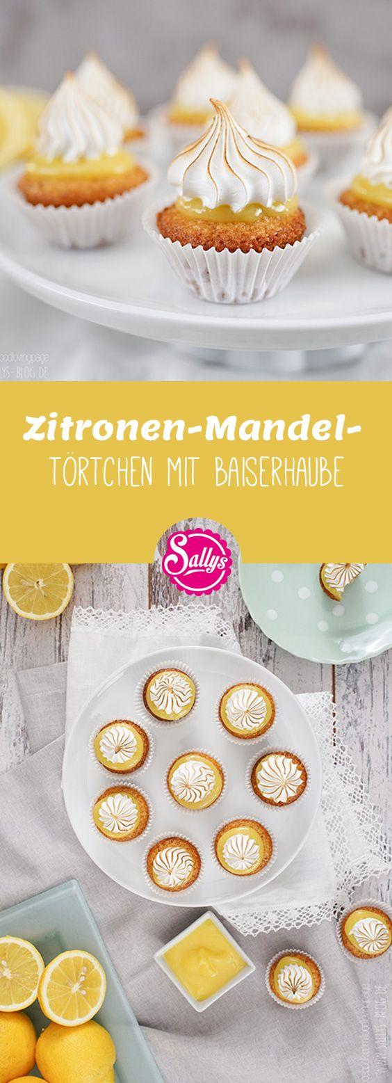 Süße leckere Zitronen-Mandeltörtchen mit Baiserhaube!