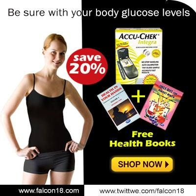 Get 20% Off on Accu-Chek Integra.  As a special limited offer you also get 2 health books absolutely free. The books provide you with information which help you live a healthier life.  Monitoring glucose levels is very important in terms of learning how to manage your diabetes. Monitor your glucose levels with ease using Accu-Chek Integra.