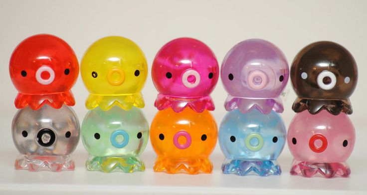 Japanese Kawaii Octopus Toy : Clear see through takochu tako kawaii