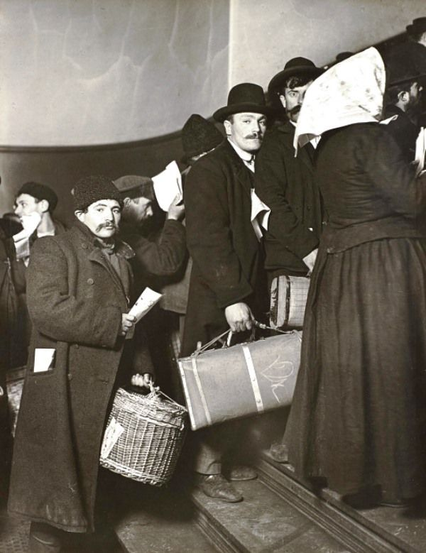 Arriving in America, Ellis Island, New York, 1905