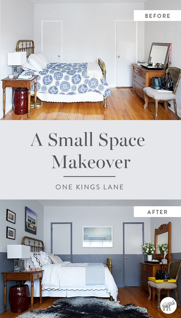 If you think these before and after bedroom shots are amazing, just wait until you see the rest of this small space makeover from The Studio at One Kings Lane!