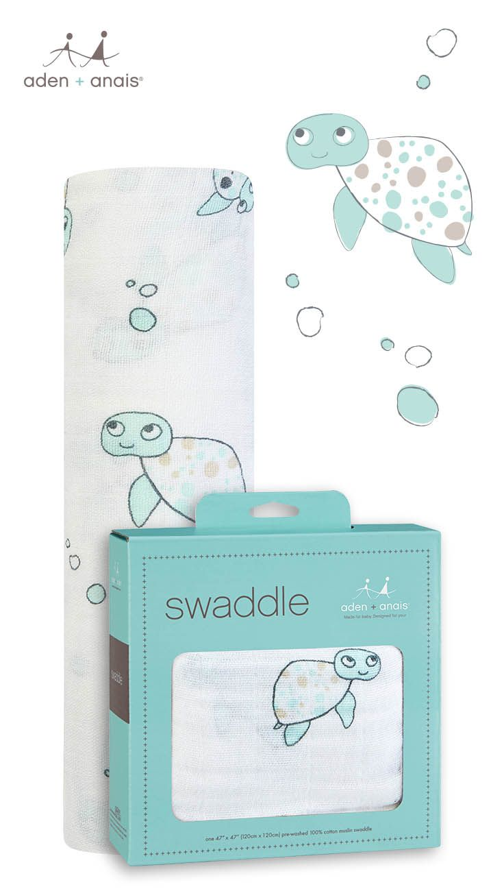 Need a simple, yet useful (and beautiful) gift for a baby or new mom in your life? Our single swaddle packs are ideal and a parent favorite and this classic turtle print is gender-neutral and fits with any sea-inspired nursery decor.