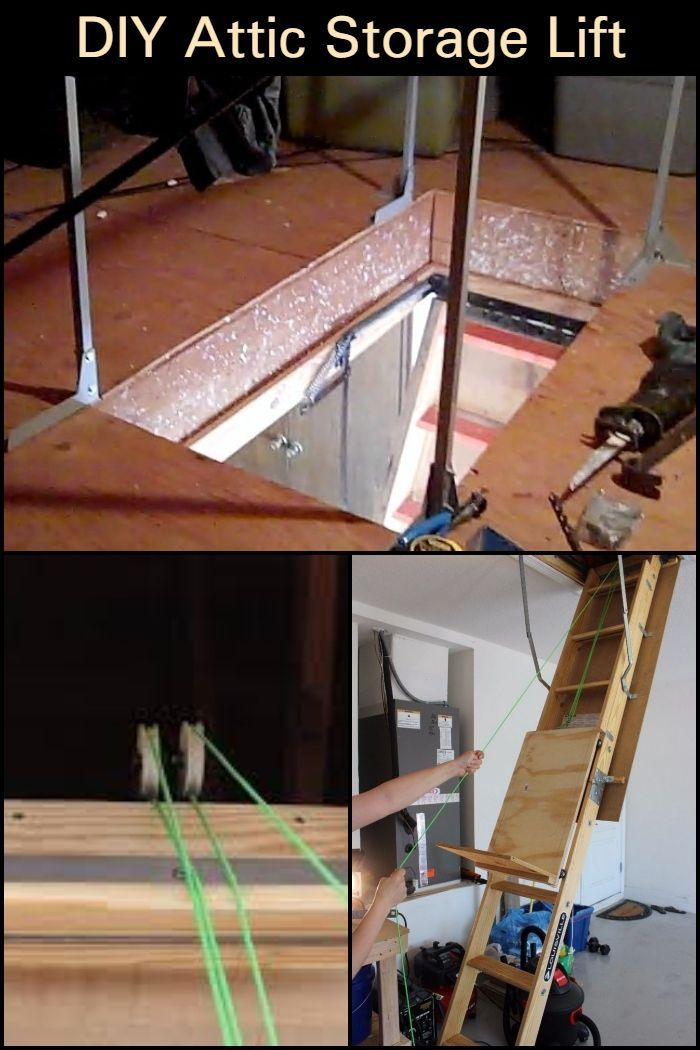 Need To Store Boxes In Your Attic This Diy Attic Storage Lift