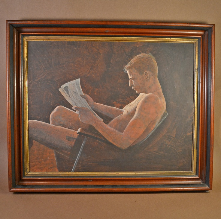 Oil on Board Painting of a Man by Dave Deran 1972. $295.00, via Etsy.