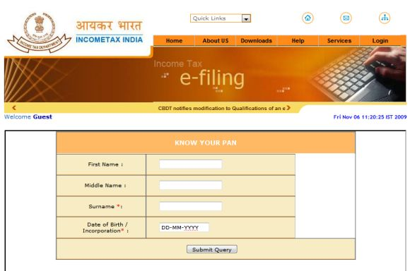 The income tax PAN card or income tax Permanent Account Number card - copy recommendation letter format for tatkal passport
