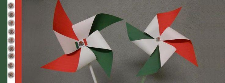 rehiletes fiestas patrias mexicanas.  mexican pinwheel