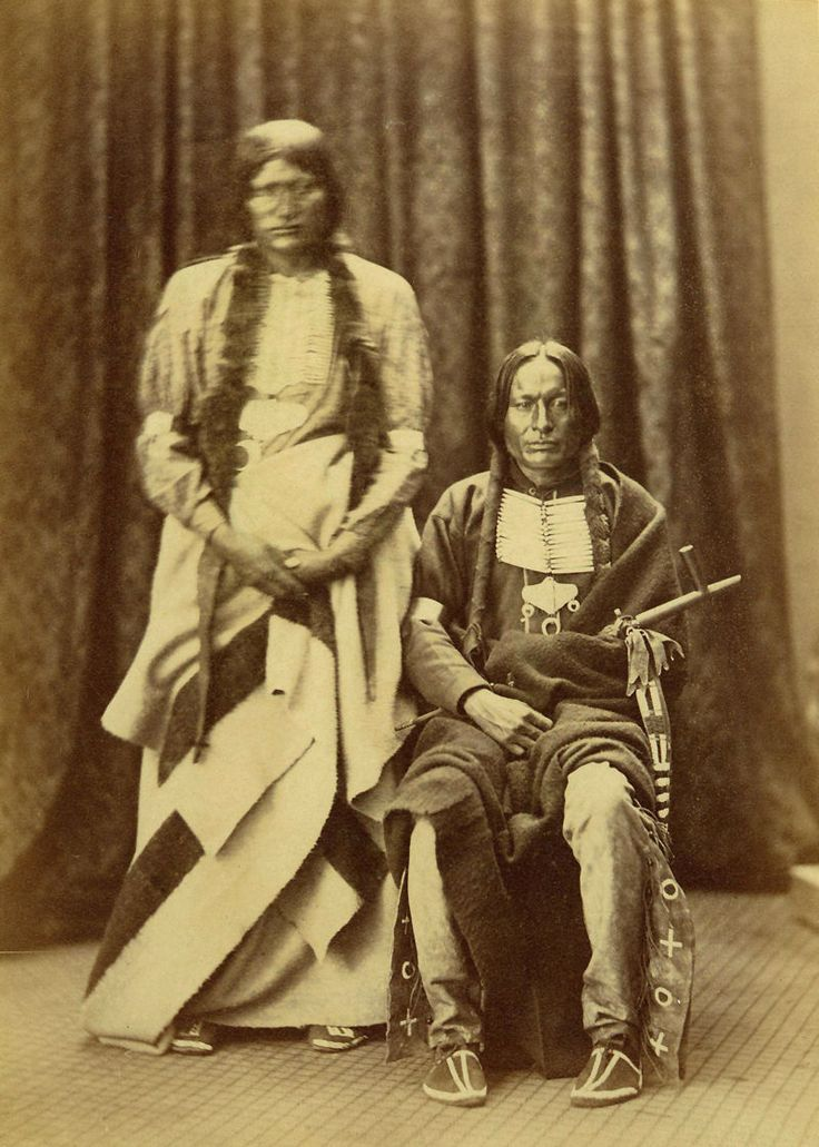 An old photograph of Bald Bear and Cut Foot - Cheyenne Indians 1871-73.